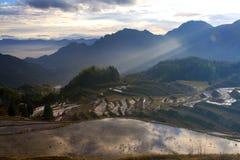 Lishui terrace scenery. Asia China Zhejiang Lishui terrace Scenery stock image