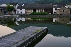 Chinese zhejiang ancient architecture royalty free stock image