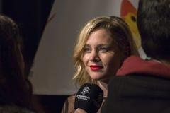 Lisi Linder all'evento del cinema di settimana di prima di Madrid nel quadrato di Callao, Madrid Fotografie Stock