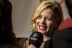Lisi Linder all'evento del cinema di settimana di prima di Madrid nel quadrato di Callao, Madrid Immagini Stock