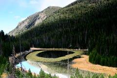 Lisiątko jezioro przy Skalistej góry park narodowy Fotografia Stock