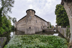 Lisignano Piacenza kasztel Obrazy Stock