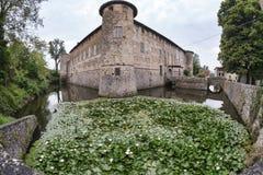 Lisignano Piacenza kasztel Obraz Stock