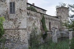 Lisignano Piacenza kasztel Zdjęcie Stock