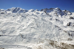 Liskamm , Breithorn, Castor and Pollux Royalty Free Stock Image