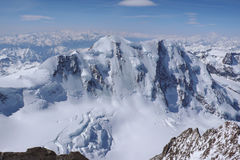 Liskamm. The north face of Liskamm as seen from the Dufourspitze Stock Photography