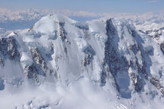 Liskamm. The north face of Liskamm as seen from the Dufourspitze Stock Image