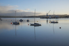 Liskeard, United Kingdom, June 22 2016, A shot of the river Tamar at sunrise , The Tamar is a river in south west England, that fo Stock Images