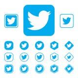 LISKI, RUSIA - 29 de septiembre de 2018 logotipo de la red social bien conocida Twitter Concepto Fondo imagenes de archivo