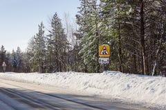 Śliskiej zimy segmentu drogowi czasy Zdjęcia Stock