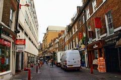 Lisle街道唐人街伦敦英国 免版税库存照片