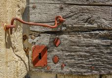 Old red lock royalty free stock photos