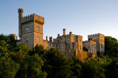 Lismore Castle. Evening sun lights Lismore Castle at Lismore,Co.Waterford, Ireland Stock Photography