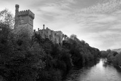 Lismore castle over the blackwater Stock Image