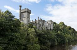 Lismore Castle viewed from Blackwater river, Co Waterford, Munster Province, Ireland royalty free stock images