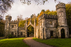Lismore Woods. Castle at Lismore Woods, Waterford, Ireland stock images