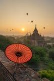 Liso de Bagan (pagão), Mandalay, Myanmar Imagem de Stock