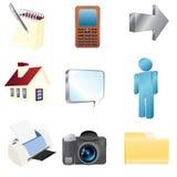 Liso renda ícones do Web Imagens de Stock Royalty Free