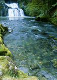 The Lison's source waterfall in France Royalty Free Stock Image