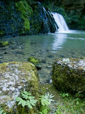 The Lison's source waterfall in France Royalty Free Stock Images