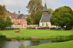 Lisors Frankrike - oktober 11 2015: den pittoreska byn Arkivbilder