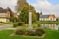 Lisors Frankrike - oktober 11 2015: den pittoreska byn Fotografering för Bildbyråer