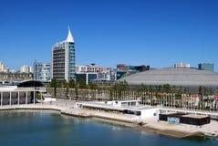 Lissabon - överblick från kabelbilen Royaltyfri Foto