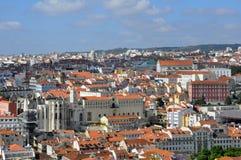 Lissabon-Überblick Stockbilder