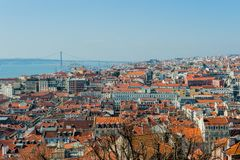 Lissabon-Überblick Lizenzfreie Stockbilder