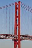 Lissabon, 25. der April-Brücke Lizenzfreie Stockfotos