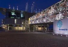 Lissabon-acquarium Gebäude nachts Lizenzfreie Stockfotos