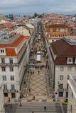 Lissabon, ACRO DA Rua Augusta Stockbilder