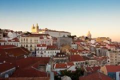 Lissabon, Alfama Stock Afbeelding