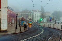 lissabon Alte Straße nachts Lizenzfreies Stockbild