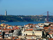 Lissabon-Ansicht Stockfotografie