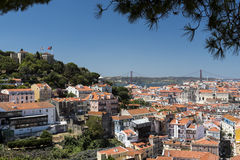 Lissabon-Ansicht der Stadt Stockfoto