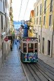 Lissabon bergbana Arkivbild