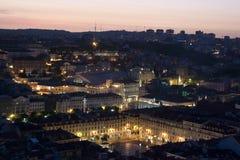 Lissabon bij nacht Stock Foto's
