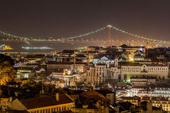 Lissabon bis zum Nacht Lizenzfreies Stockfoto
