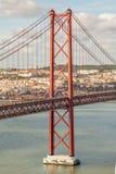 Lissabon Bridgge Royalty-vrije Stock Afbeelding