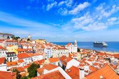 Lissabon cityscape Arkivfoto