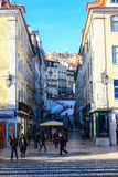 Lissabon cityscape Arkivfoton