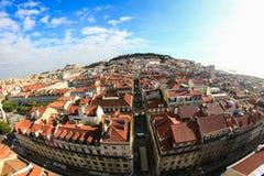 Lissabon cityscape Fotografering för Bildbyråer