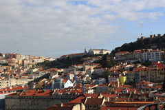 Lissabon cityscape Arkivbild