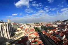 Lissabon cityscape Royaltyfria Bilder