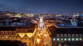 Lissabon de stad in stock foto