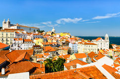 Lissabon de stad in, Portugal Stock Afbeelding