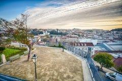 Lissabon de stad in, Portugal royalty-vrije stock afbeeldingen