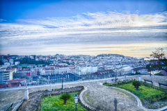 Lissabon de stad in, Portugal stock fotografie