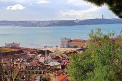 Lissabon, den huvud och största staden av Portugal Royaltyfri Fotografi